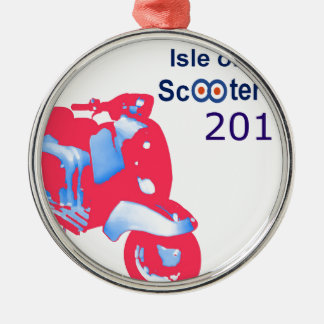 Isle of Wight Scooter Rally 2017 Metal Ornament