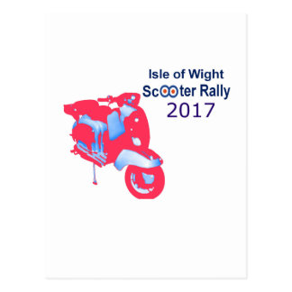 Isle of Wight Scooter Rally 2017 Postcard