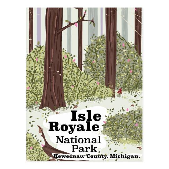 Isle Royale National Park vintage travel poster Postcard