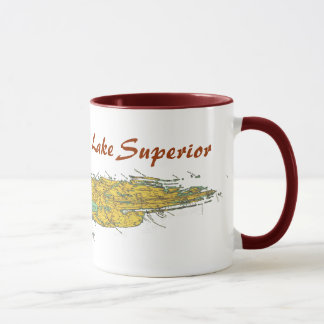 Isle Royale Park Lake Superior Chart Mug