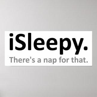 iSleepy Funny Poster