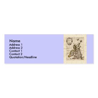 Isles Britanniques - 1700 Nicolas Fils Sanson Map Business Card Templates