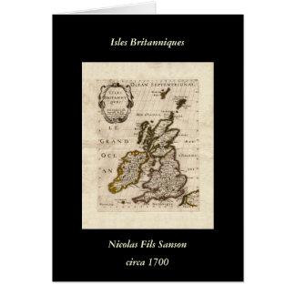 Isles Britanniques - 1700 Nicolas Fils Sanson Map Card