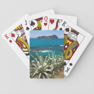 Islet and coastal vegetation poker deck
