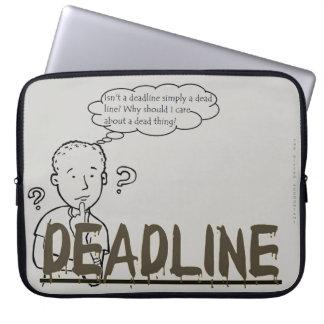 """""""Isn't a deadline simply a dead line?"""" Laptop Sleeve"""