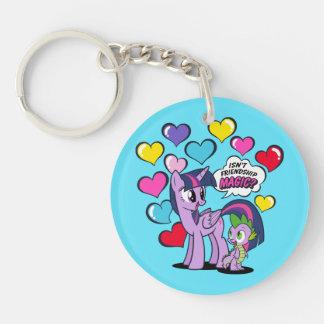 Isn't Friendship Magic? Double-Sided Round Acrylic Keychain
