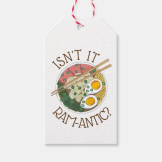 Isn't It Ram-Antic (Romantic) Ramen Noodles Love Gift Tags