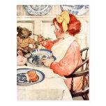 Isn't this porridge delicious, Teddy? Postcards