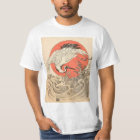 Isoda Koryusai - Crane, Waves and Rising Sun T-Shirt
