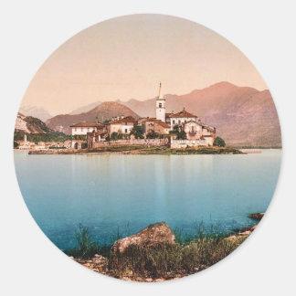 Isola Pescatori I, Maggiore, Lake of, Italy vintag Round Sticker