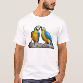 isolated ara ararauna parrot T-Shirt
