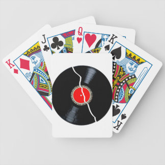 Isolated Broken Record Bicycle Playing Cards