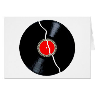 Isolated Broken Record Card