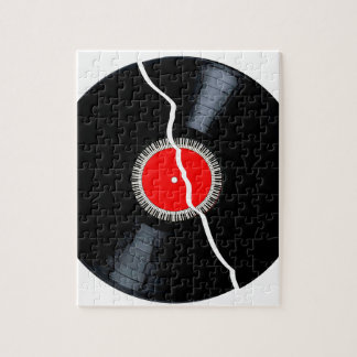 Isolated Broken Record Jigsaw Puzzle