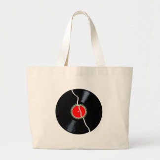 Isolated Broken Record Large Tote Bag