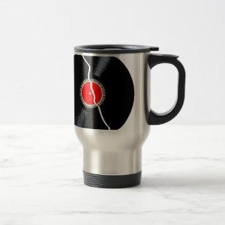 Isolated Broken Record Travel Mug