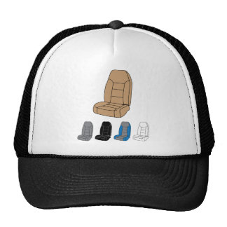 Isolated Car Seat Trucker Hat