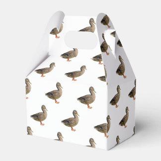 isolated cute duck favor box