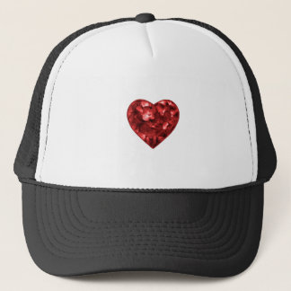 Isolated Floral Heart Shape Ornament Trucker Hat