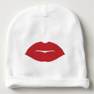 Isolated Lip Kiss Baby Beanie