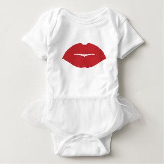 Isolated Lip Kiss Baby Bodysuit