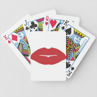 Isolated Lip Kiss Bicycle Playing Cards