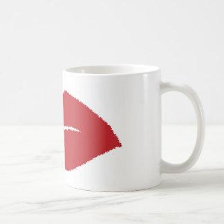Isolated Lip Kiss Coffee Mug