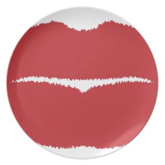 Isolated Lip Kiss Dinner Plate