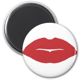 Isolated Lip Kiss Magnet