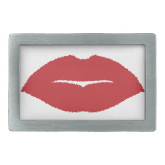 Isolated Lip Kiss Rectangular Belt Buckle