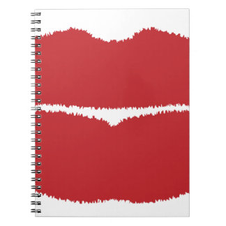 Isolated Lip Kiss Spiral Notebook