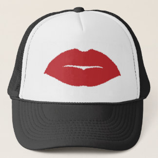 Isolated Lip Kiss Trucker Hat