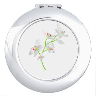 Isolated Orquideas Blossom Mirror For Makeup