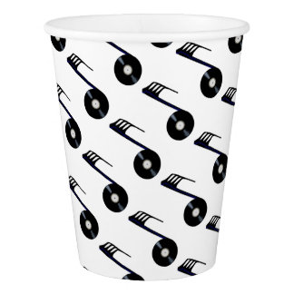 Isolated Record Note Paper Cup