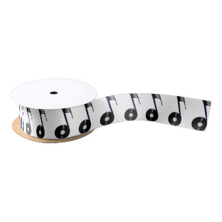 Isolated Record Note Satin Ribbon