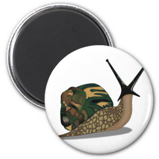 Isolated Snail 2 Inch Round Magnet