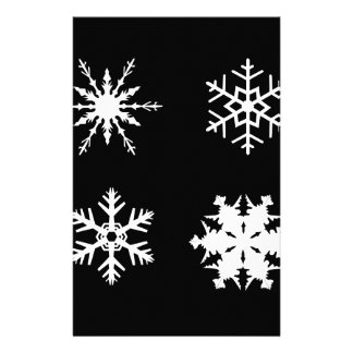 Isolated Snowflake Collection Customized Stationery