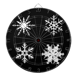Isolated Snowflake Collection Dartboard With Darts