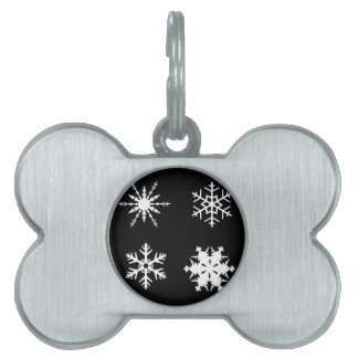 Isolated Snowflake Collection Pet Tags