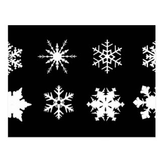 Isolated Snowflake Collection Postcard