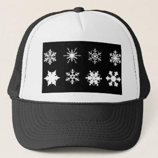 Isolated Snowflake Collection Trucker Hat