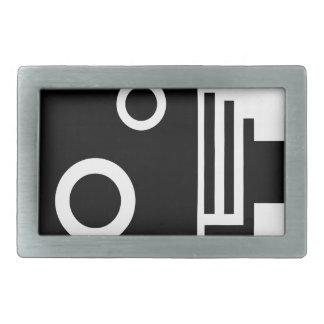 Isolated Speed Camera Belt Buckles