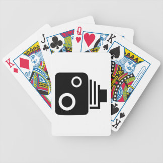 Isolated Speed Camera Bicycle Playing Cards