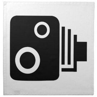 Isolated Speed Camera Napkin