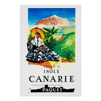 Isole,Canarie,Travel Poster