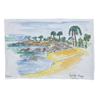 Isolella Beach, Ajaccio | Corsica, France Pillowcase