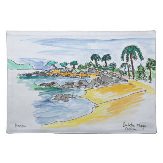 Isolella Beach, Ajaccio | Corsica, France Placemat