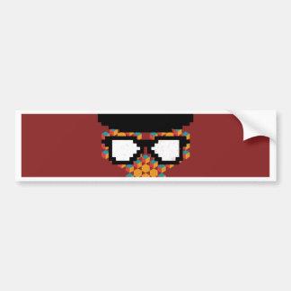 Isometric Funky Monkey glasses Cube pattern Bumper Sticker