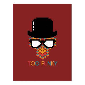 Isometric Funky Monkey glasses Cube pattern Postcard