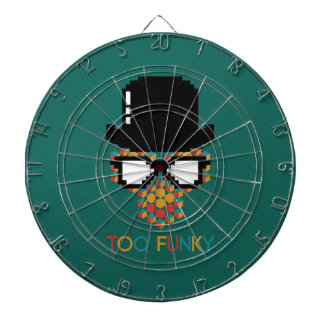 Isometric Funky Monkey with glasses Cube pattern Dartboard With Darts